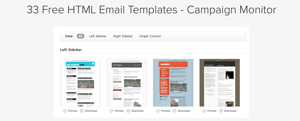 Free Html Templates For Responsive Email Marketing Campaigns
